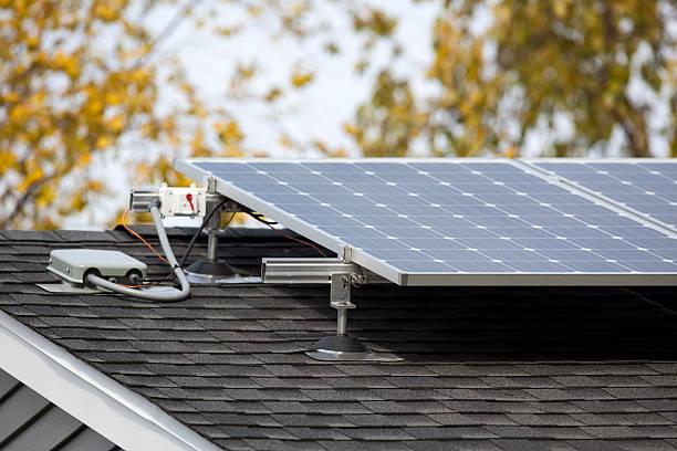 Residential Solar Panels stock photo