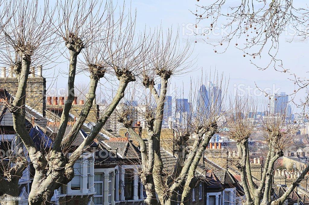 Residenziale di South London Street foto stock royalty-free