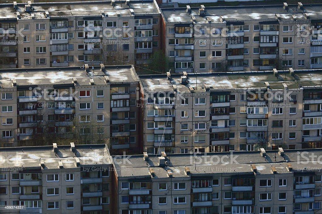 Residential soviet communist era buildings, Vilnius, Lithuania, Baltics royalty-free stock photo