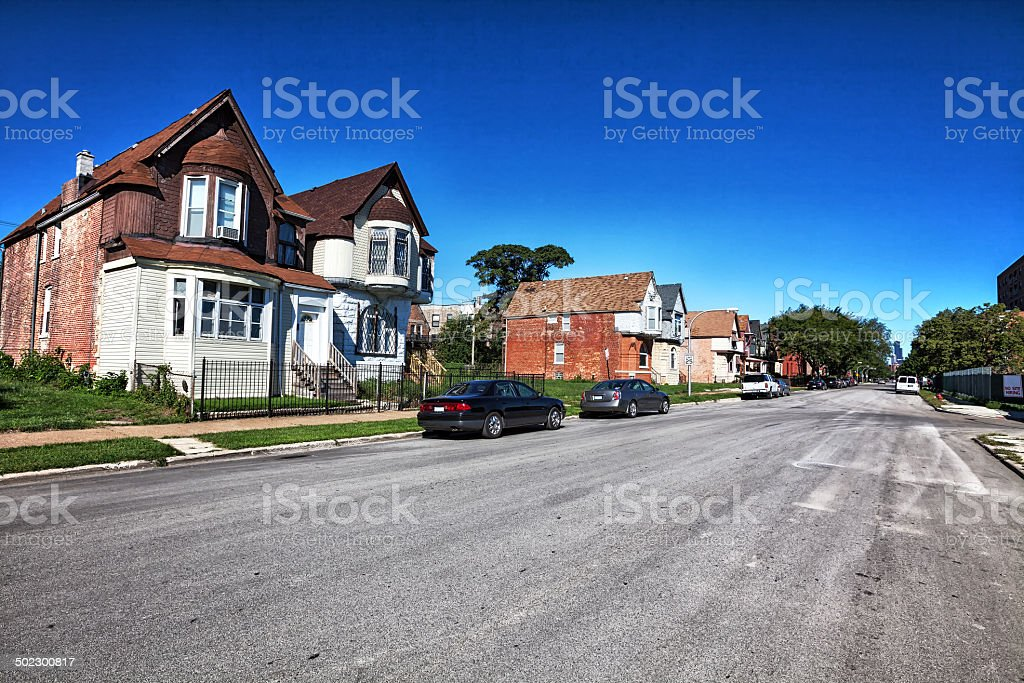 Rue résidentielle à Oakland, à Chicago - Photo