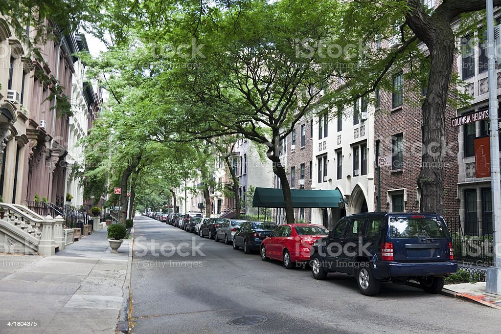 Residential Street stock photo