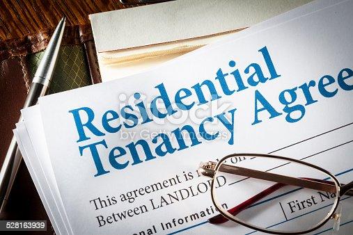 istock Residential Tenancy agreement 528163939