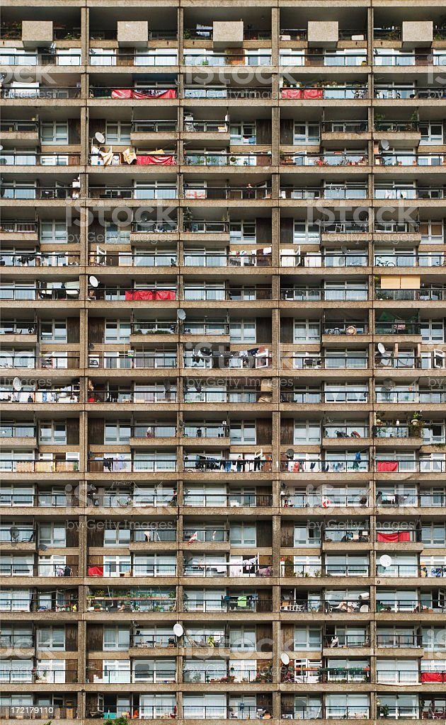 Residential tower block royalty-free stock photo