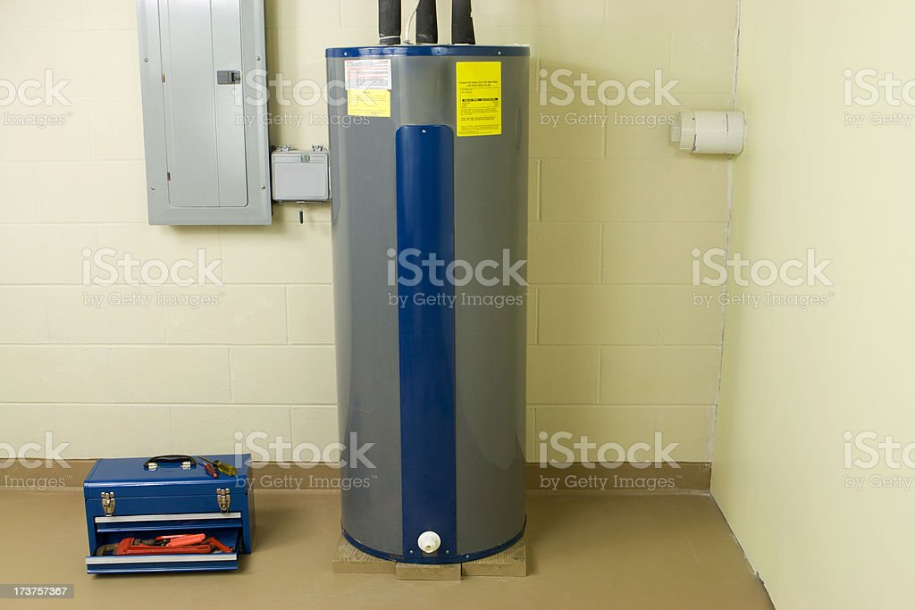 Residential Water Heater stock photo