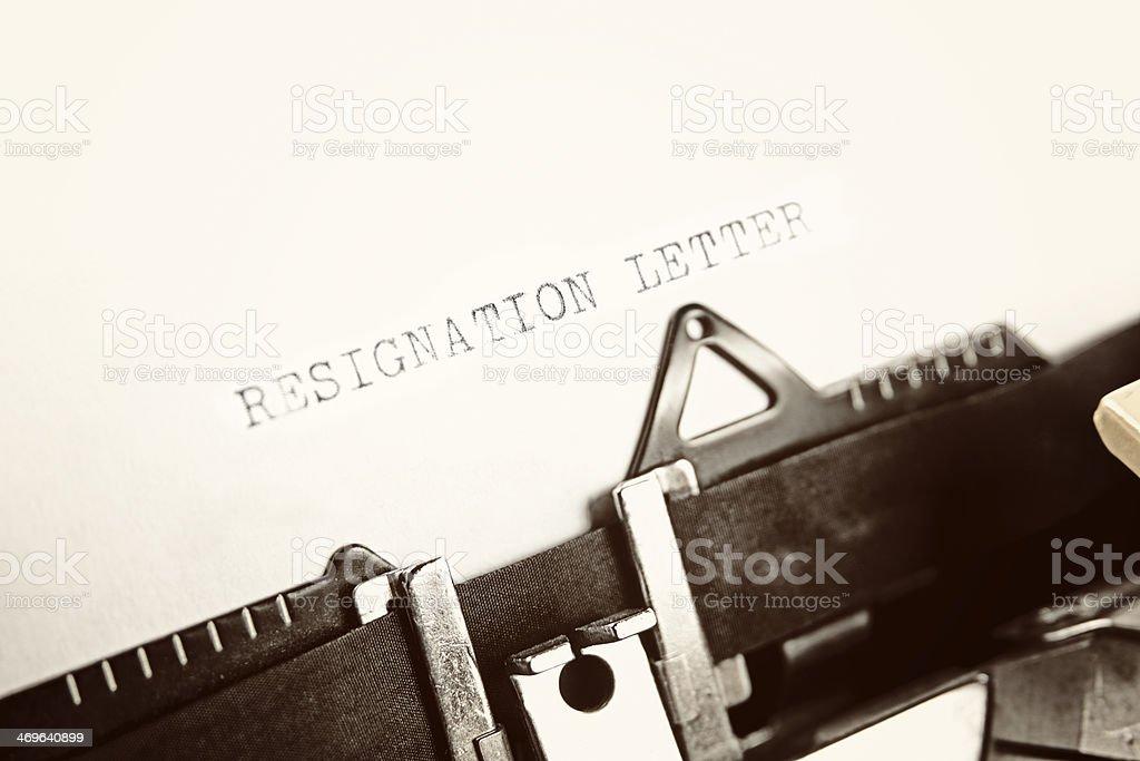 Carta de dimisión - foto de stock