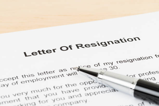 Resignation letter resign with pen Resignation letter resign with pen quitting a job stock pictures, royalty-free photos & images