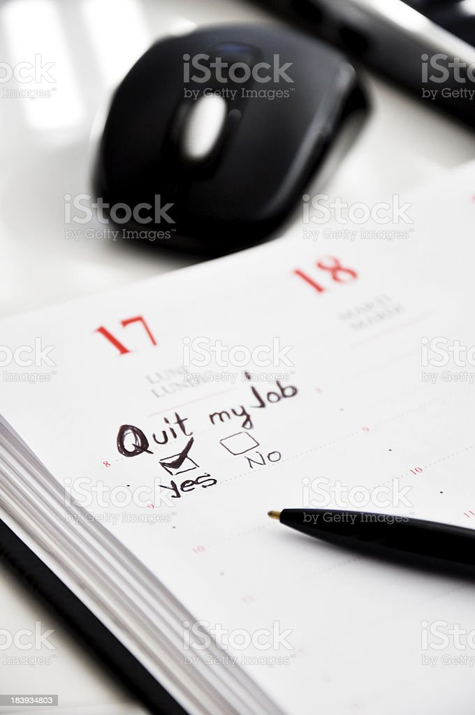 resignation royalty-free stock photo