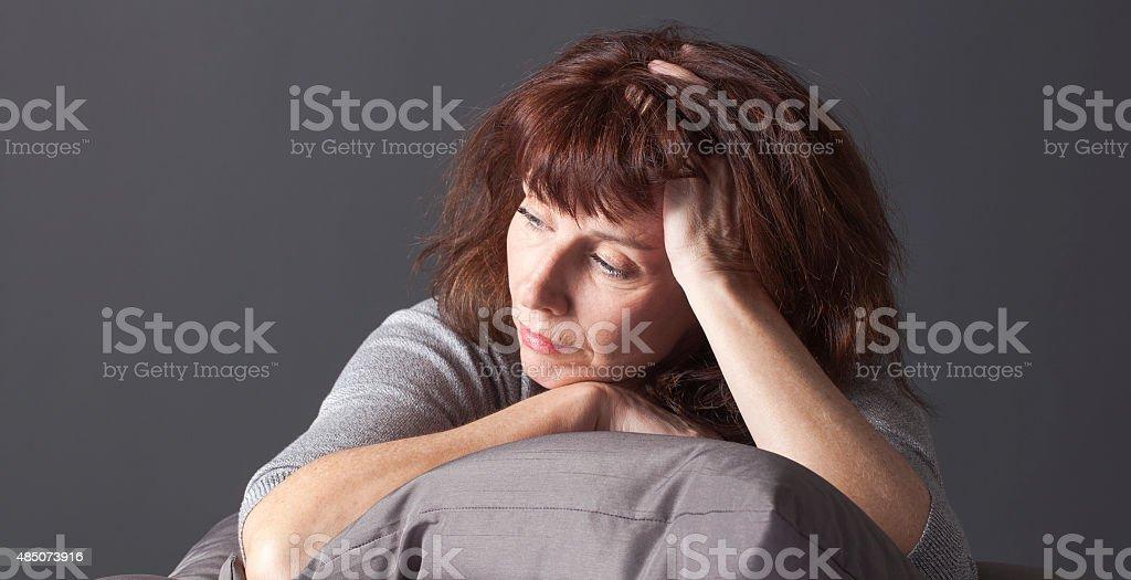 Welternährungsprogramm senior Frau krank, dass menopause blues – Foto