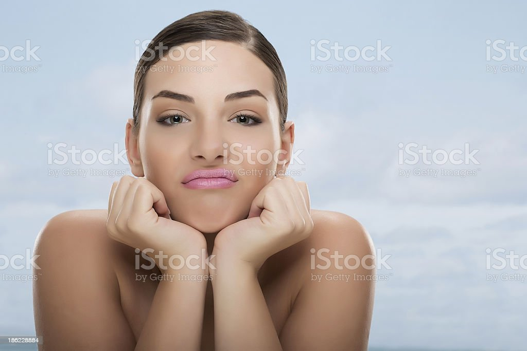 Resigned young girl. royalty-free stock photo
