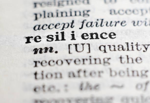 motståndskraft. ordbok definition, selektiv fokus. uthållighet, anpassning och hantera misslyckande koncept. - återhämtning bildbanksfoton och bilder