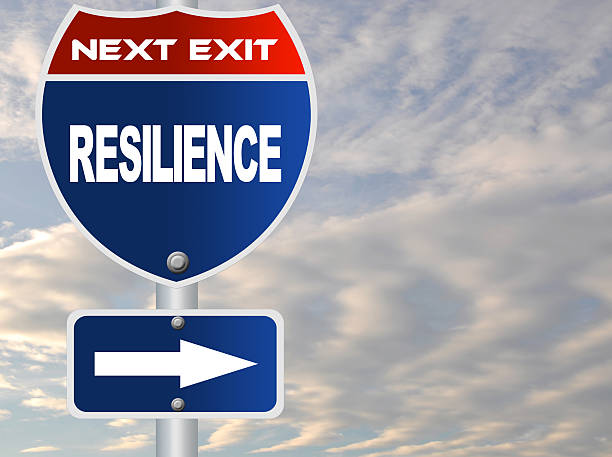 resilience road sign - resilience concept stock photos and pictures
