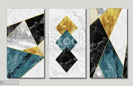 istock resin geode and abstract art, functional art, like watercolor geode painting .golden, blue and white marble and golden shapes background 3d wallpaper for wall frames .  suitable for print in canvas 1335658535
