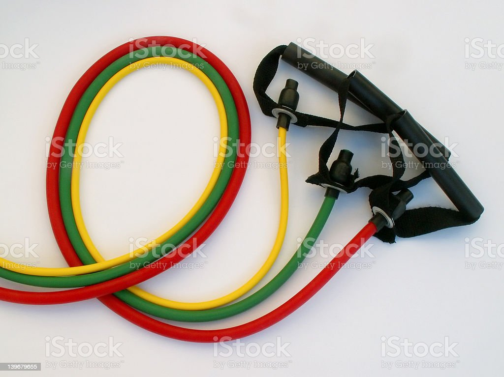 resistance bands royalty-free stock photo