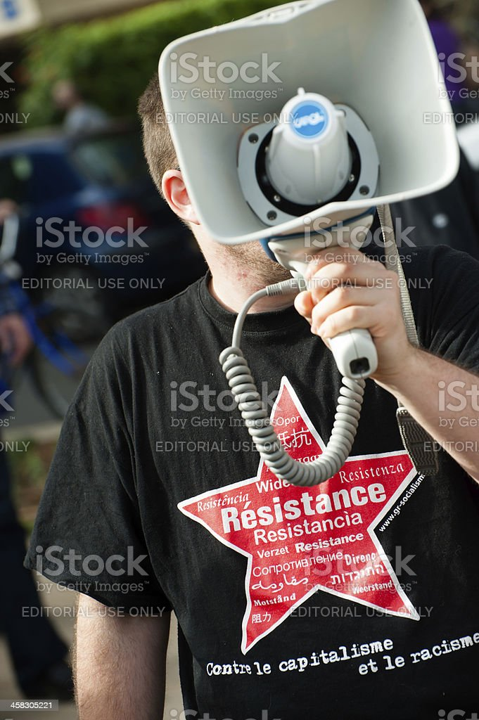 Resistance protester activist royalty-free stock photo