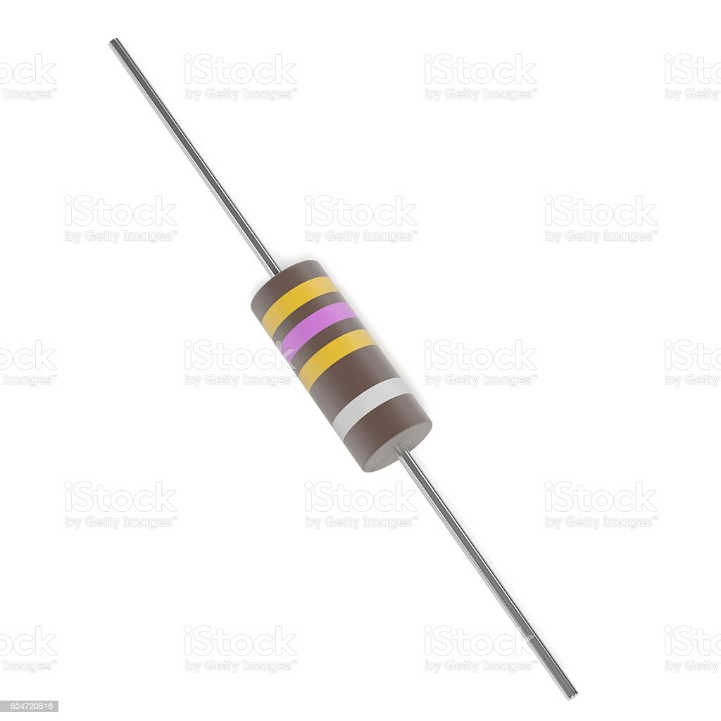 resistor part stock photo