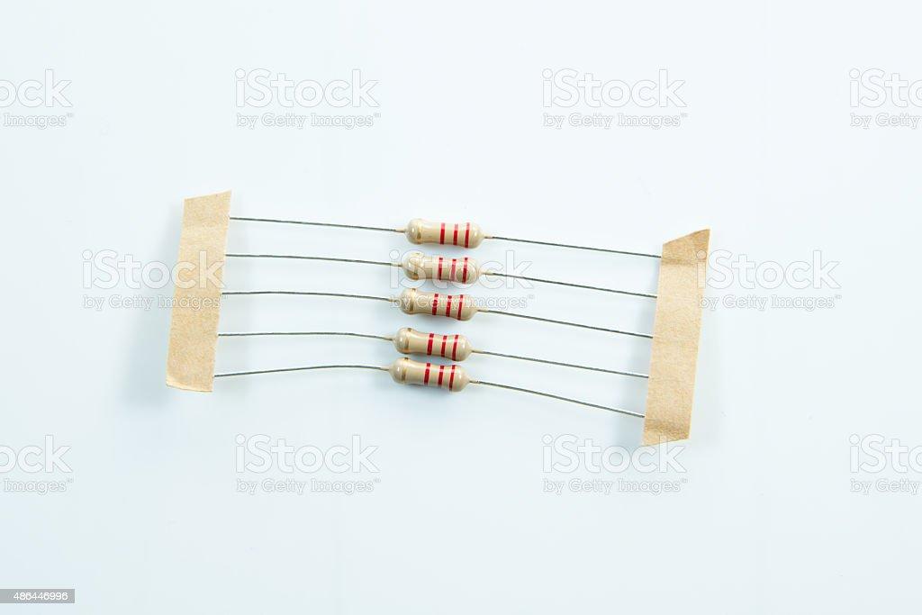 Resistor stock photo