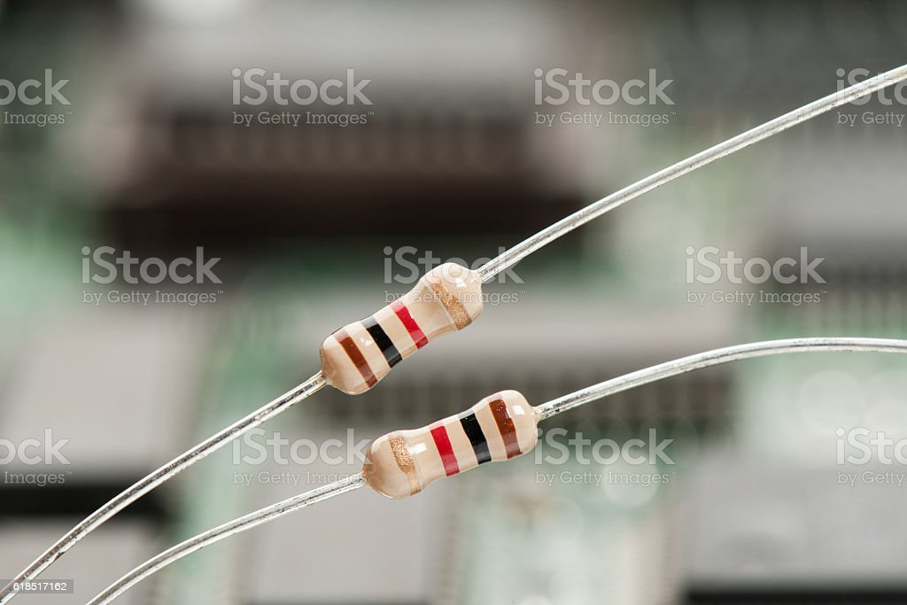 resistors stock photo