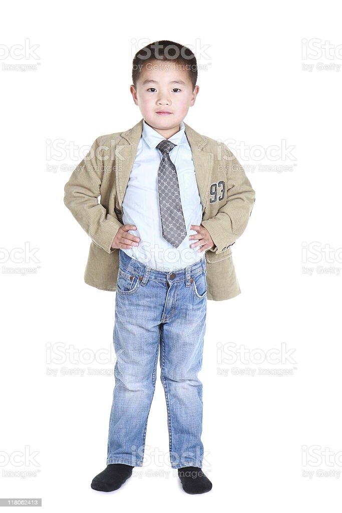 resolute boy royalty-free stock photo