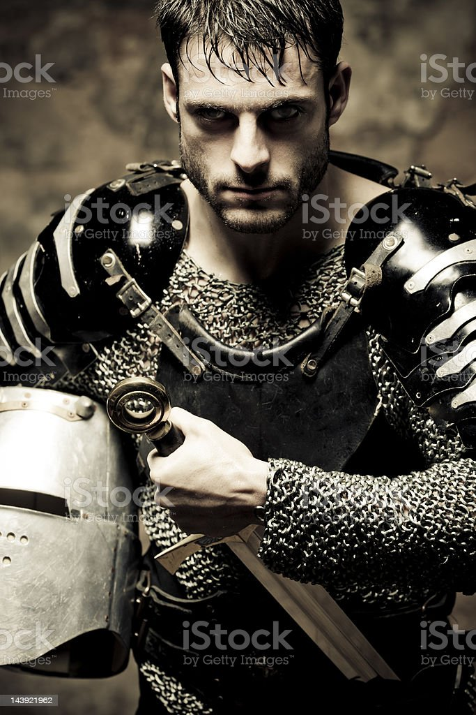 resolute knight stock photo