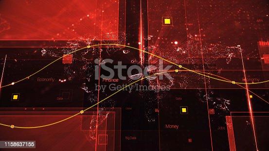 185274311istockphoto 4K Resolution - Finance and Economy background 1158637155