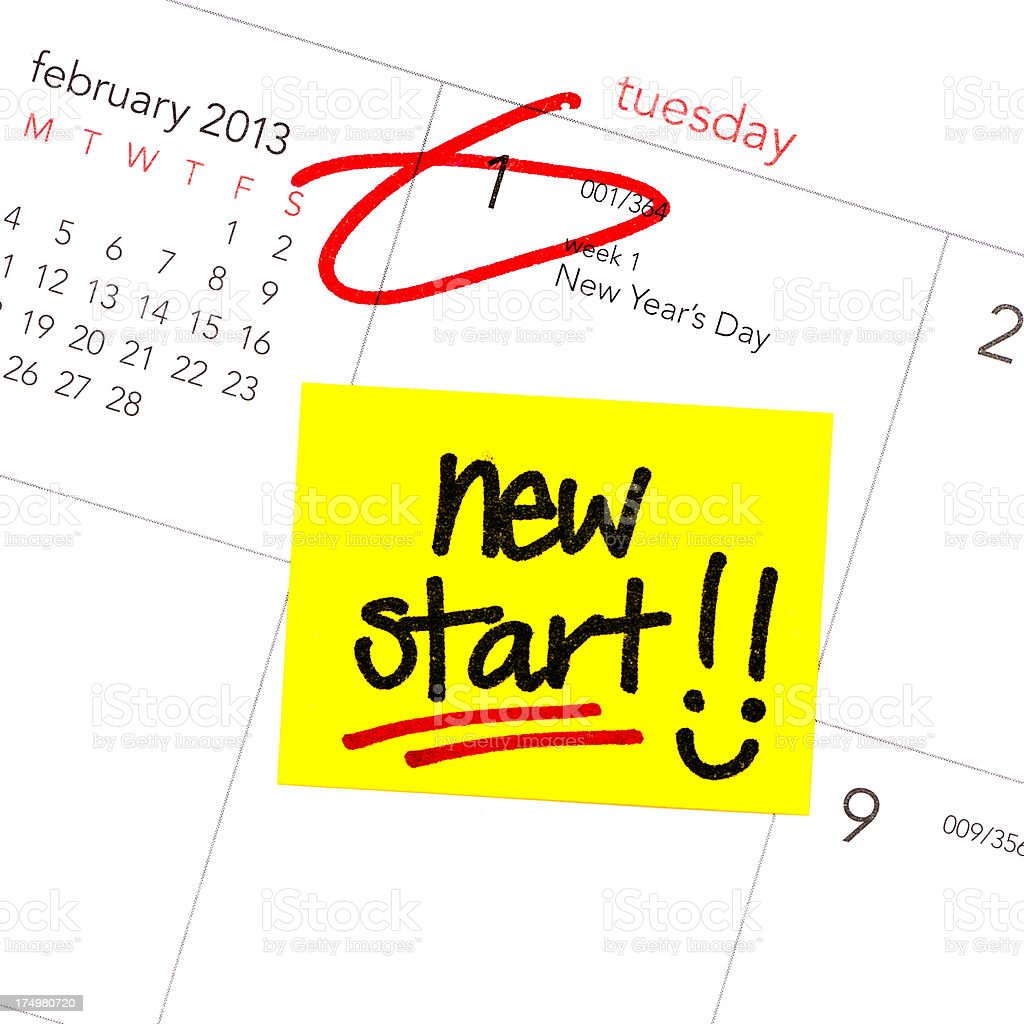 Resolution for 2013: New Start royalty-free stock photo
