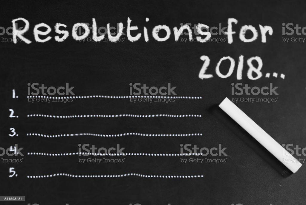 Resolutions in 2018 stock photo