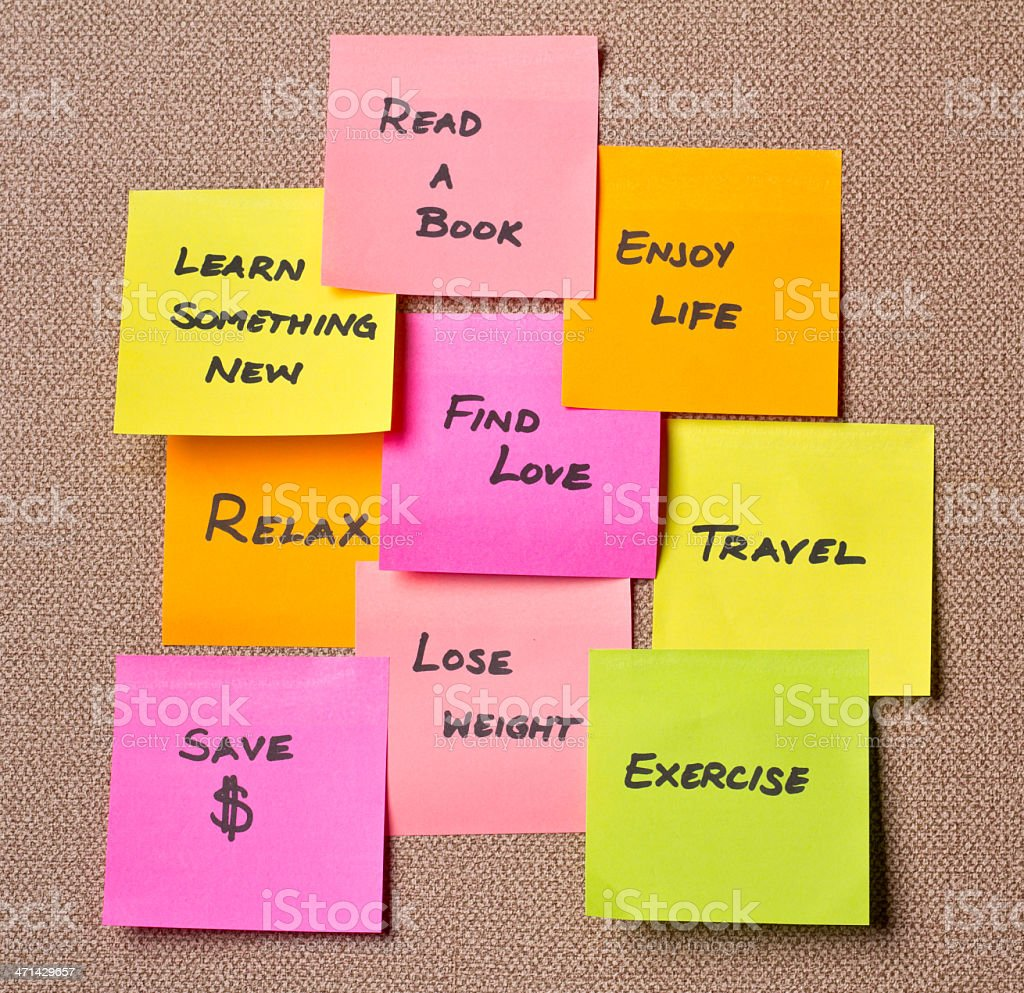 Resolutions stock photo