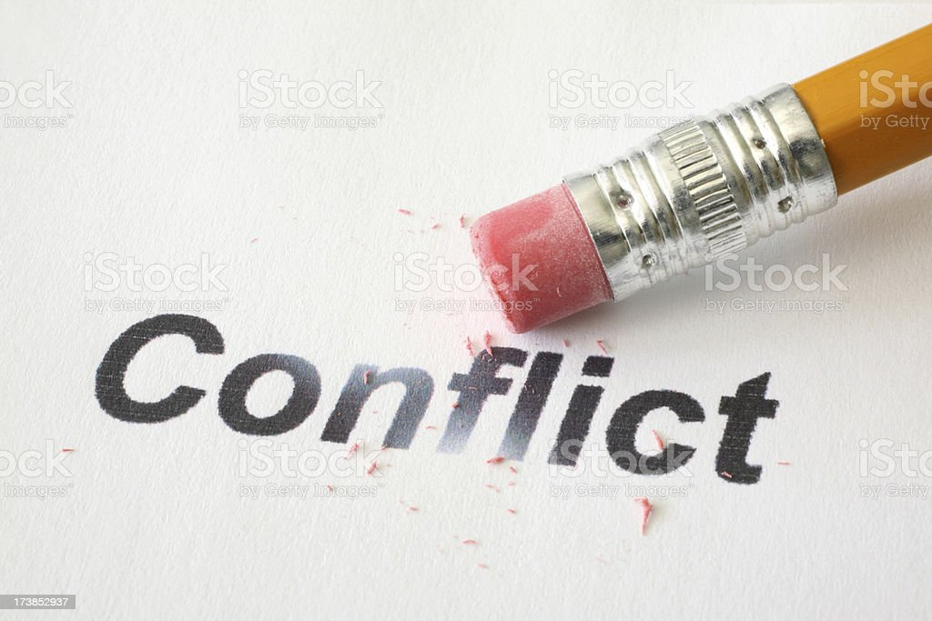Resolve Conflict royalty-free stock photo