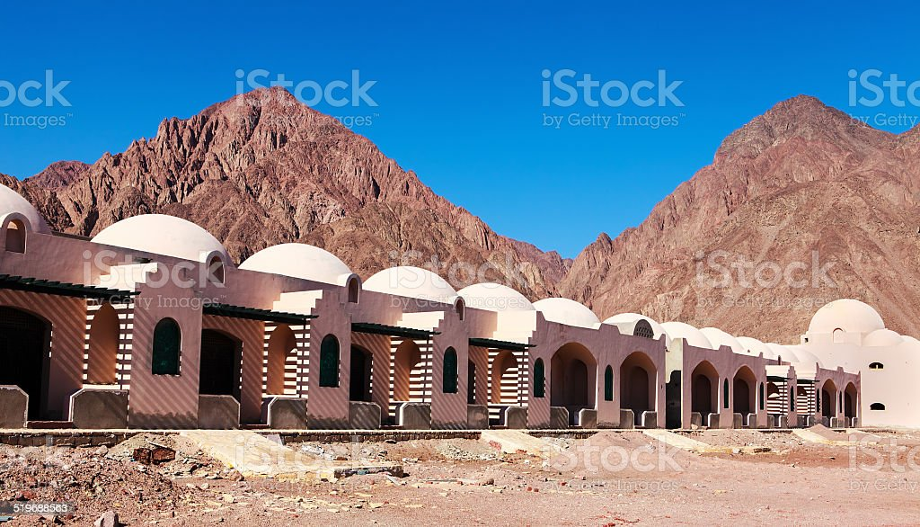 resort along the Red Sea stock photo