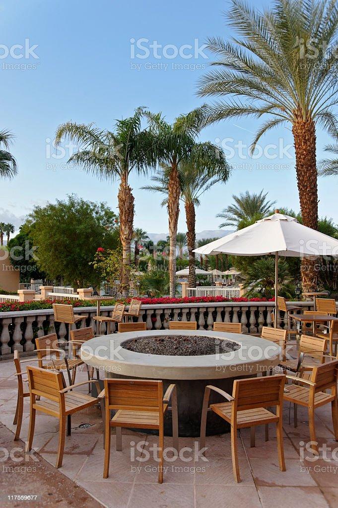 Resort Bar & Fire pit royalty-free stock photo
