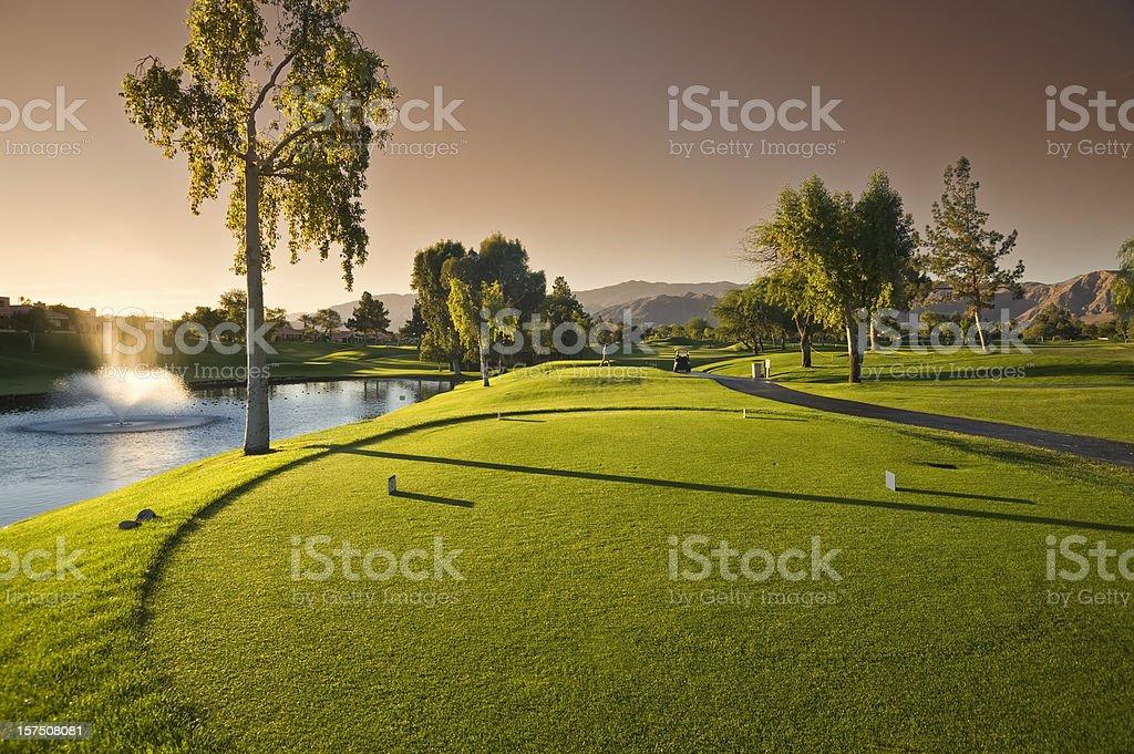 Resort Golf Course at Sunrise stock photo