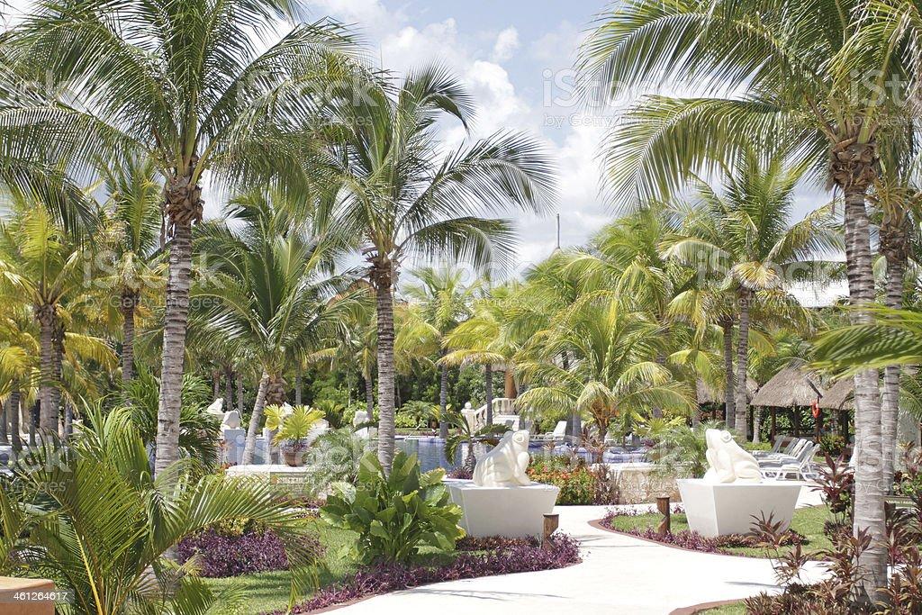 Resort grounds royalty-free stock photo