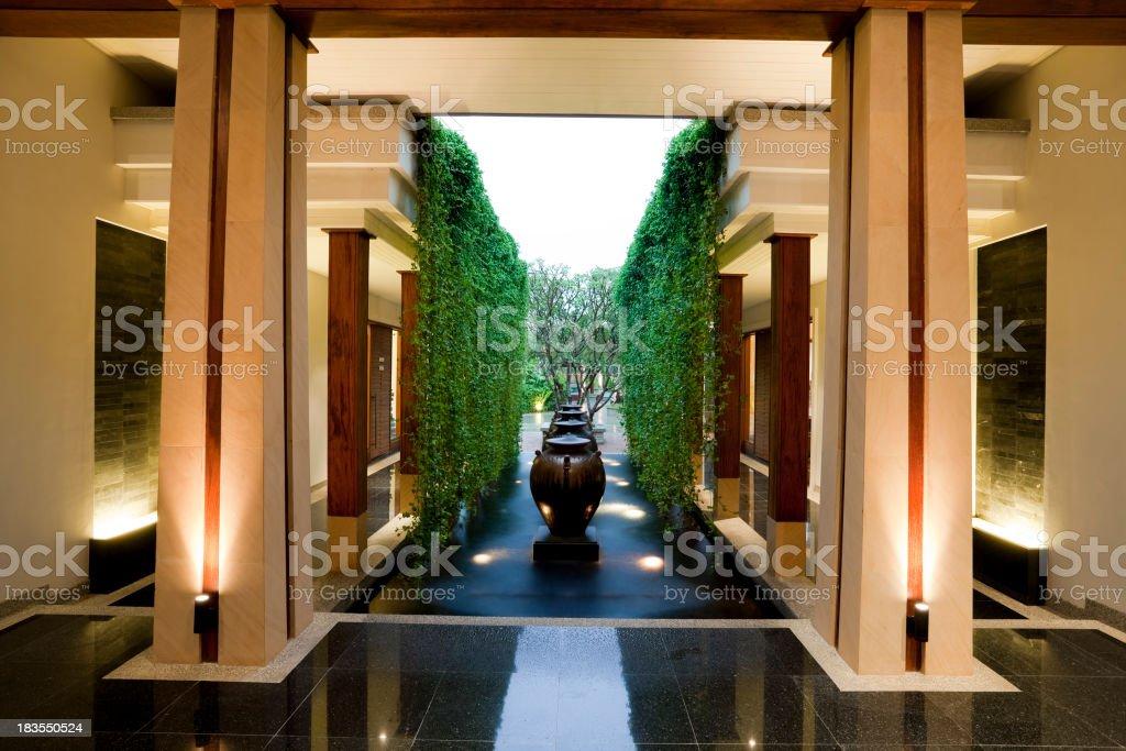 resort hotel lobby phuket thailand stock photo