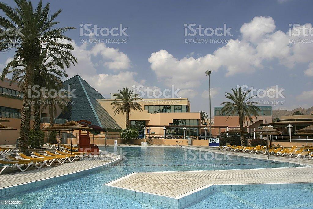 Resort Hotel Pool royalty-free stock photo