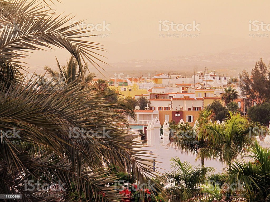 Resort in Playa del Ingles - Gran Canaria (Canary Islands) stock photo