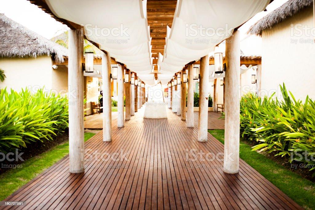 Resort in Punta Mita royalty-free stock photo