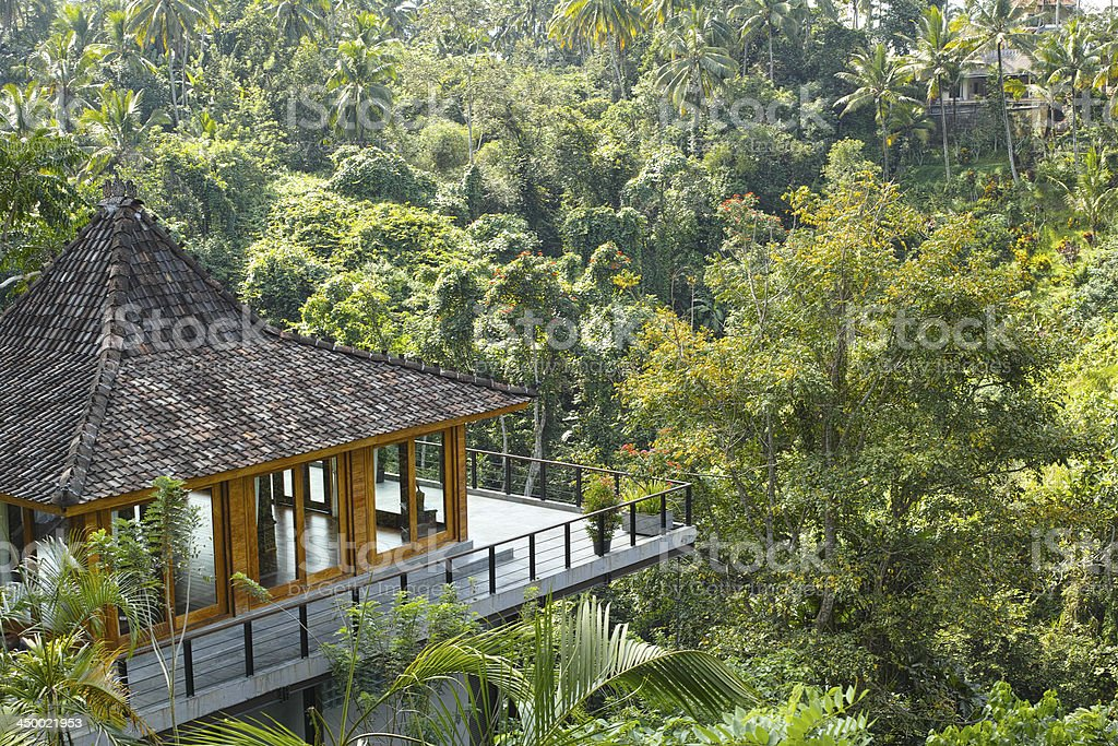 resort in rainforest stock photo