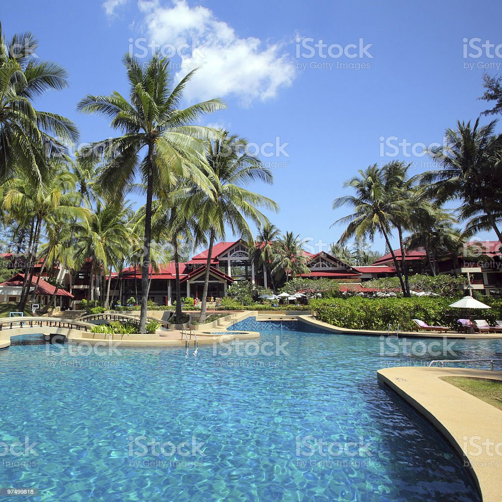 resort in Thailand royalty-free stock photo