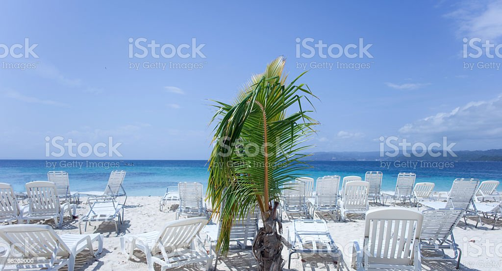 Resort in the Caribbean Sea royalty-free stock photo