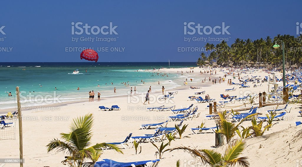 Resort Life in the Caribbean stock photo