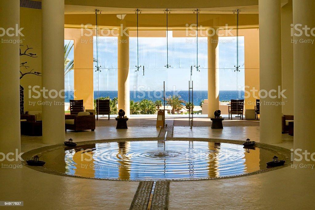 Resort Lobby stock photo