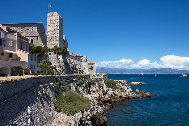 Resort of Antibes - South of France stock photo
