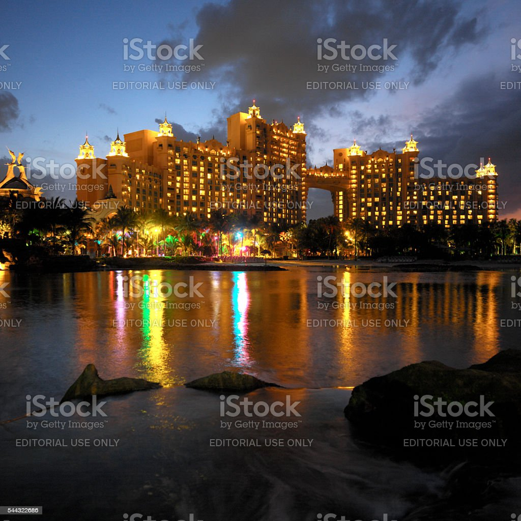 Resort of Atlantis - Bahamas stock photo