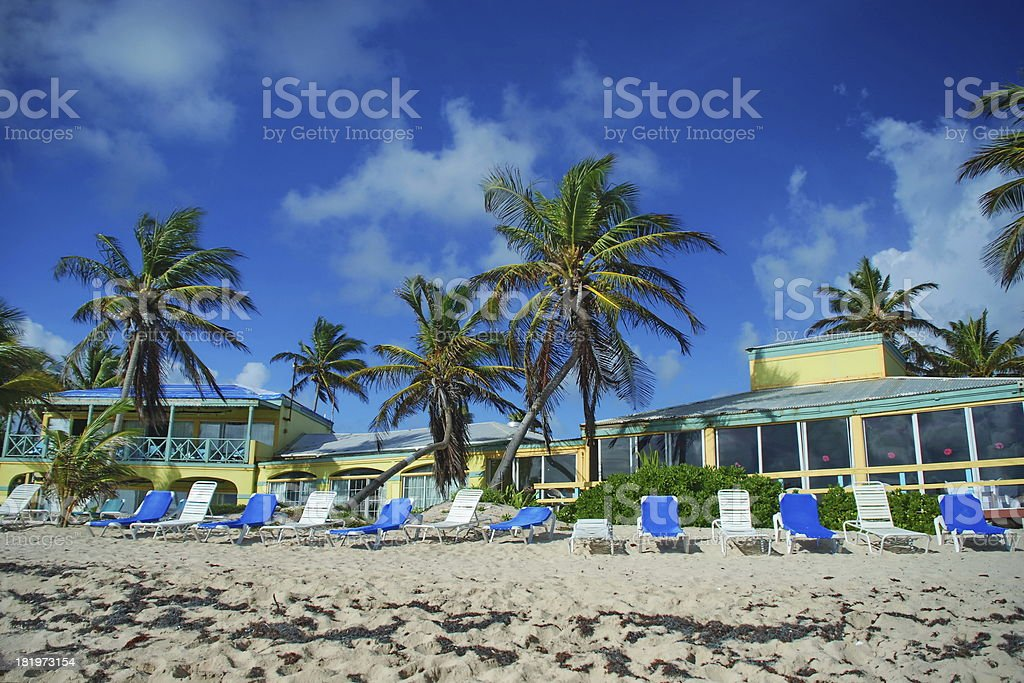 Resort on St. Croix, USVI stock photo