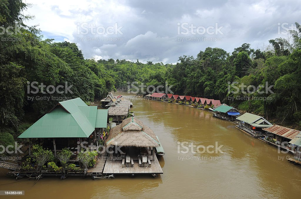 Resort on The River, Thailand stock photo