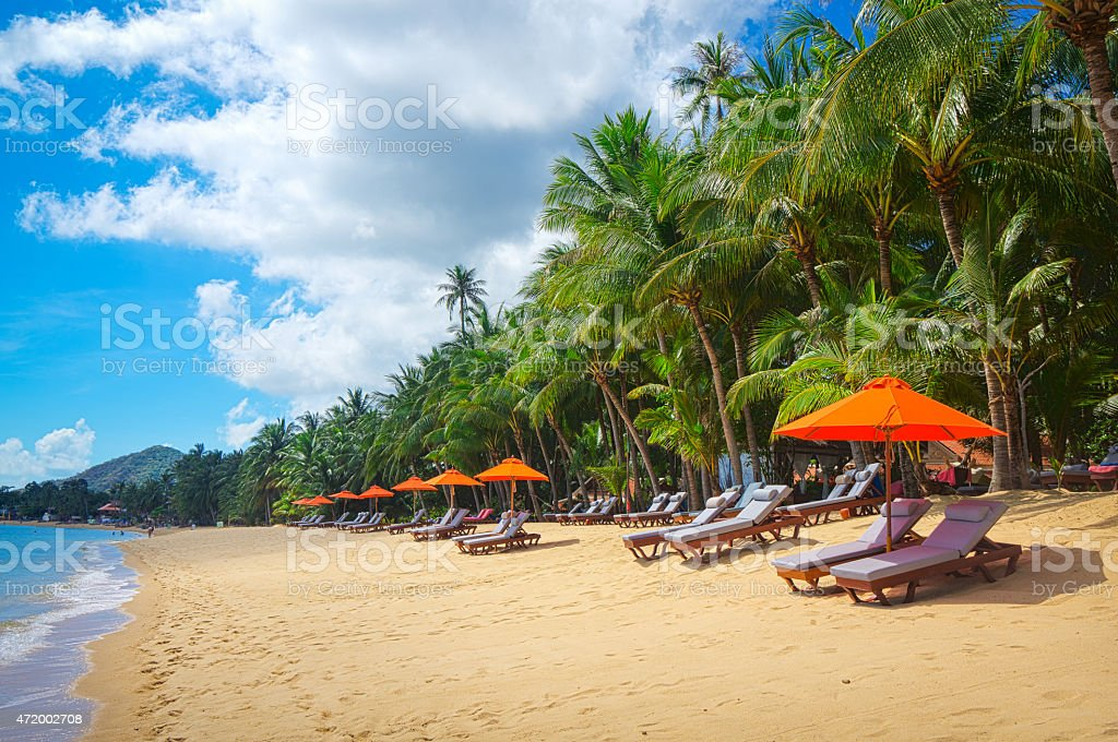 Resort panorama stock photo