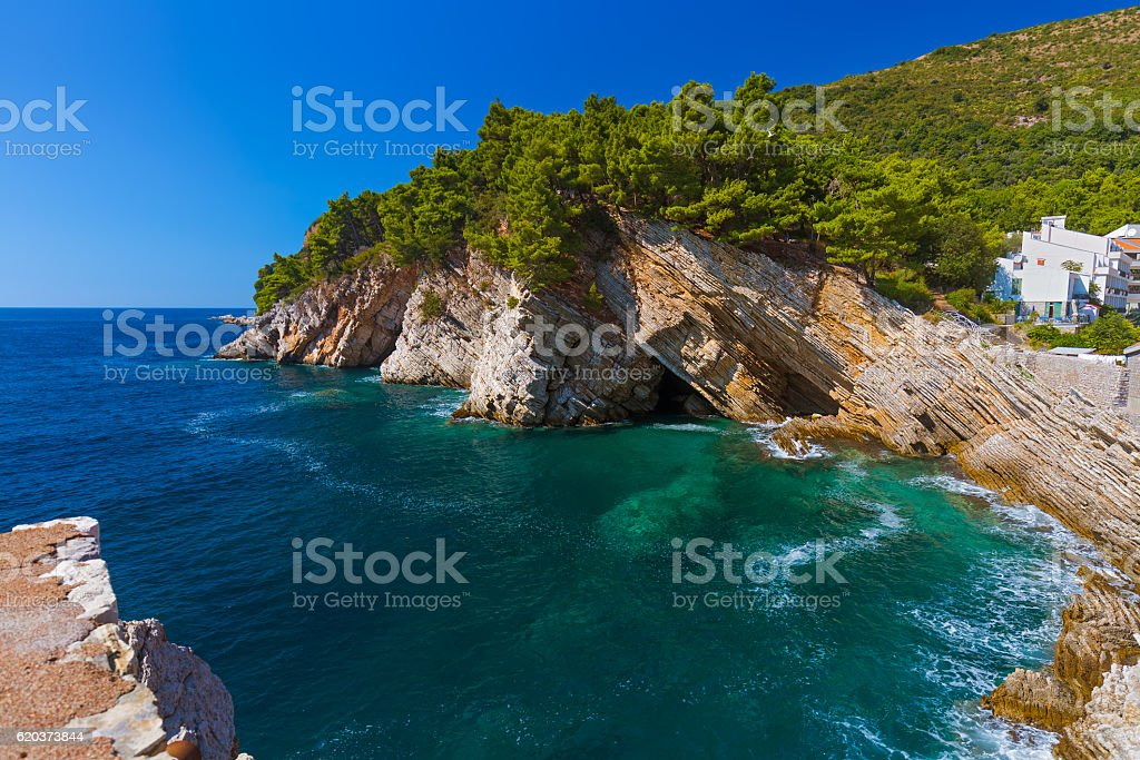 Resort Petrovac - Montenegro foto de stock royalty-free