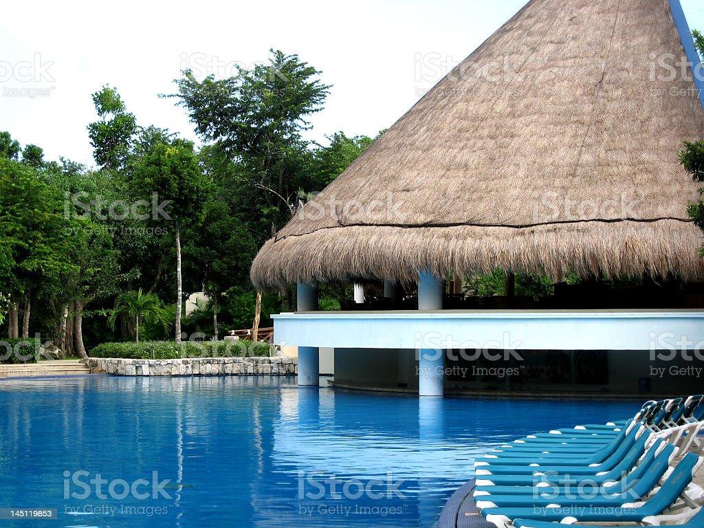 Resort Pool and Bar royalty-free stock photo
