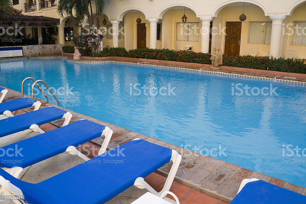 Resort Pool Hz royalty-free stock photo