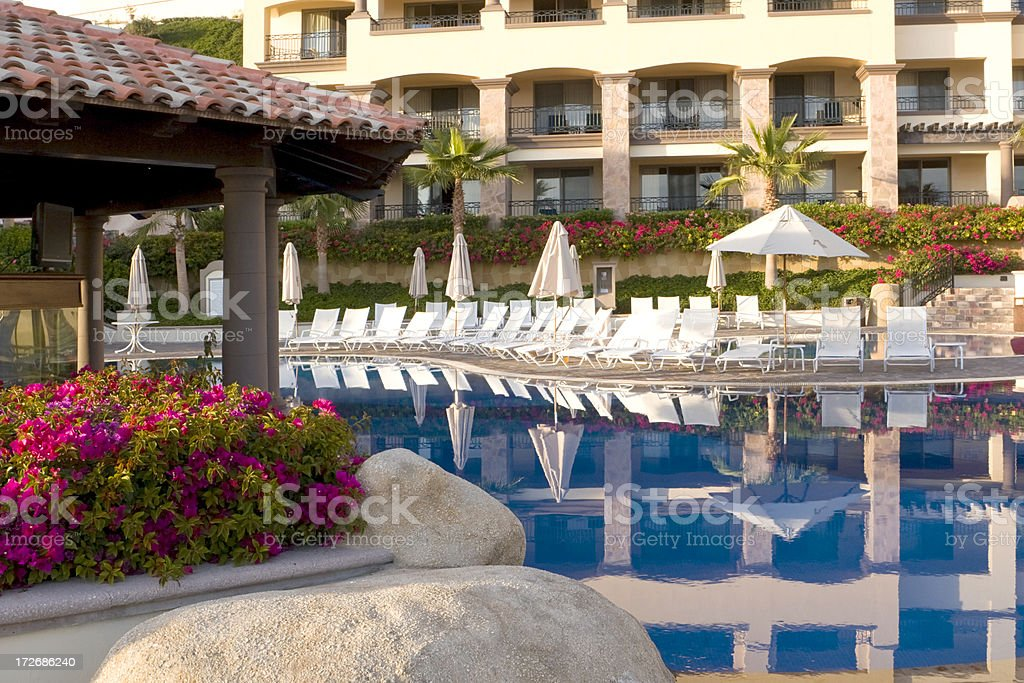 Resort Reflections royalty-free stock photo